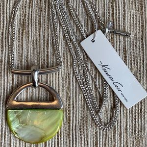 NWT Kenneth Cole Yellow Shell & Silver Necklace